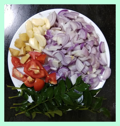 Onion and Tomato for making Japanese quail (Kaadai) fry